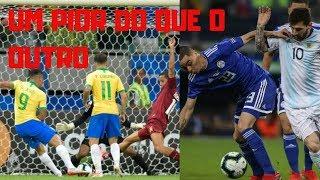 Brasil joga mal, Argentina sequer joga futebol. Perigo é achar que está bom porque o rival anda pior