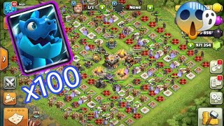 100 Electro Dragon Vs Infinity Heroes   Infinity War   Clash of Clans Private Server  Clash of Clans