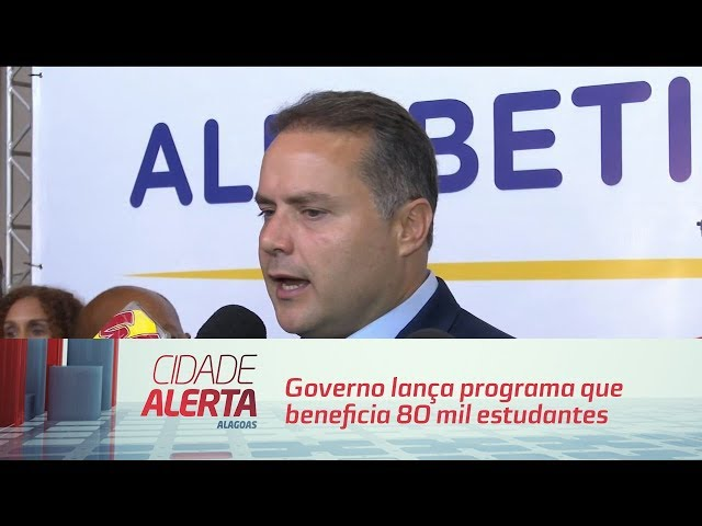 Governo lança programa que beneficia 80 mil estudantes alagoanos