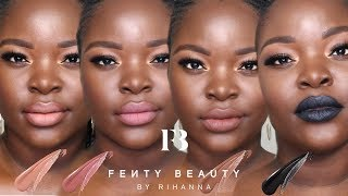 NEW FENTY BEAUTY STUNNA LIP PAINTS REVIEW + SWATCHES | Le Beat