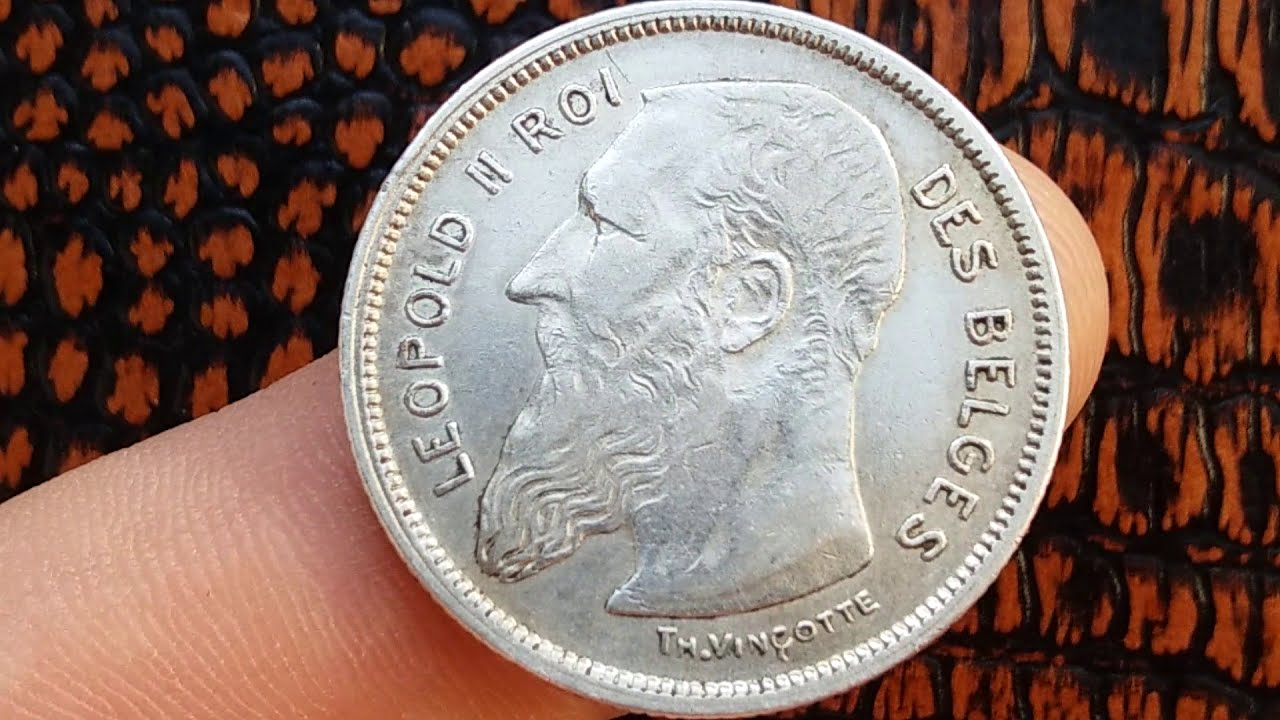 2 FRANCS 1909 BELGIQUE/BELGIUM (Value,Worth, On Description Section Under the video)