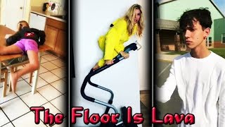 Best of The Floor Is Lava Challenge Musical.ly Compilation #TheFloorIsLavaChallenge