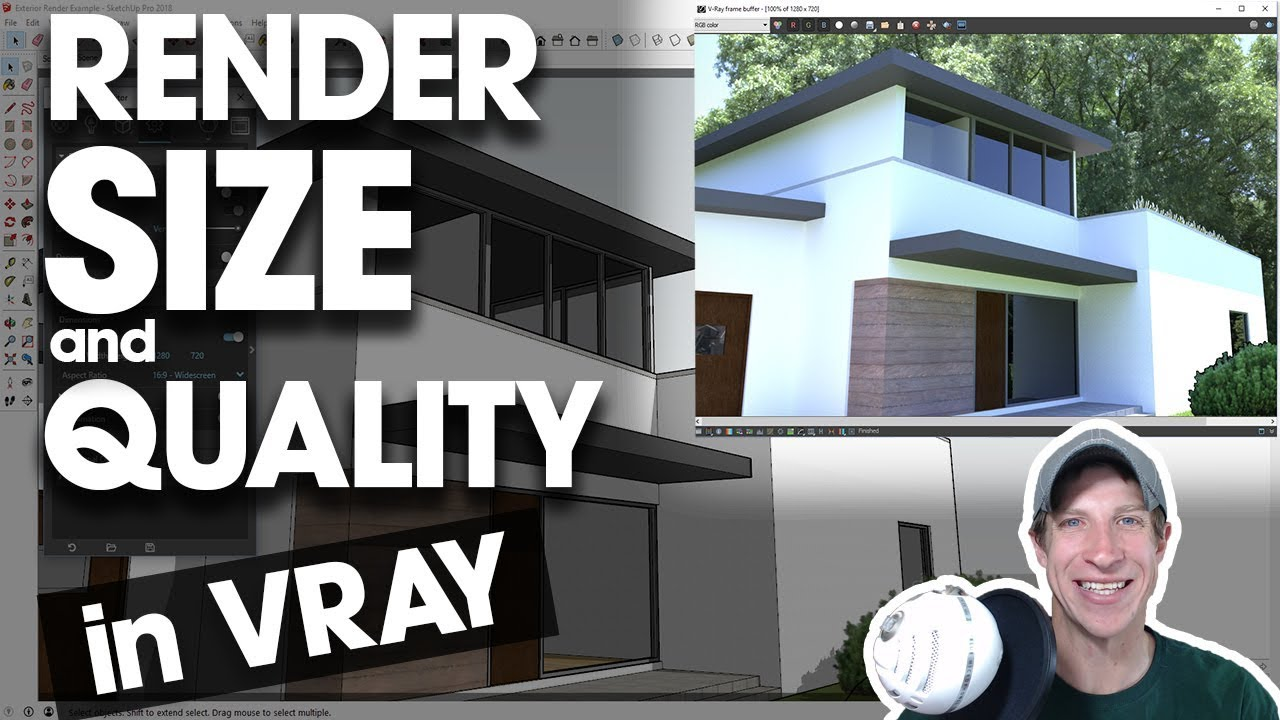 Adjusting Render Size And Quality In Vray For Sketchup Youtube