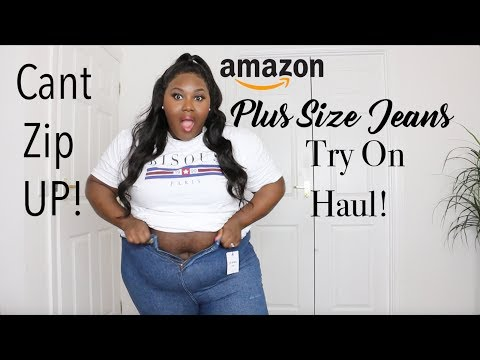 WHAT DO AMAZON PLUS SIZE FASHION JEANS FIT LIKE?? JEANS TRY ON HAUL!