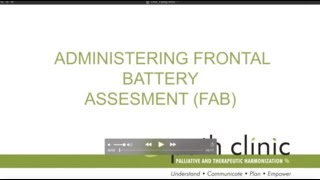 Administering Frontal Battery Assessment (FAB)