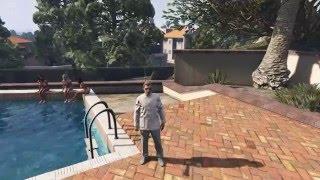 GTA-5 Online: Тёлок в бассейне щемлю...
