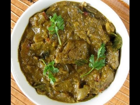 Recipe - Green Mutton Curry Recipe With English Subtitles