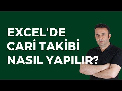 Excel #186- Ömer BAĞCI- Cari hesap takibi