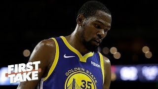 Could KD's injury persuade him to remain with the Warriors next season? | First Take