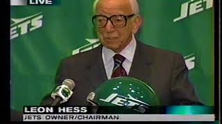 Leon Hess Welcomes Bill Parcells, Bill Belichick To The NY Jets 1997