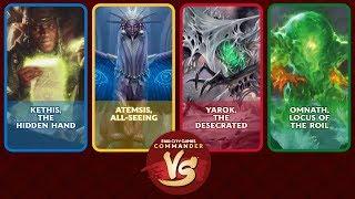 Commander VS S16E3: Kethis VS Atemsis VS Yarok VS Omnath [EDH]