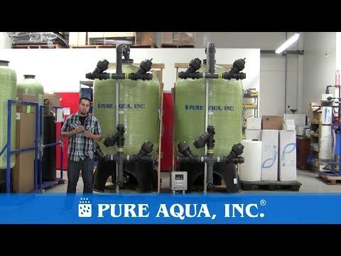 Filtros Multimedia para agua de mar para Mexico, 2 x 50 GPM | www.PureAqua.com