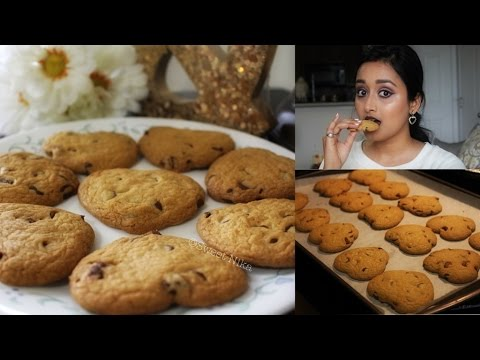 Chocolate Chip Cookies (Heart shape) | Valentines Day Special 🍪💖