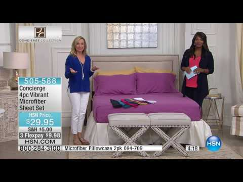 HSN | Concierge Collection Bedding 05.08.2017 - 06 AM