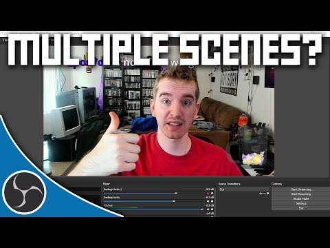 OBS Studio 106 - Why you should be using multiple scenes - OBS Tutorial Course & Beginner's Guide
