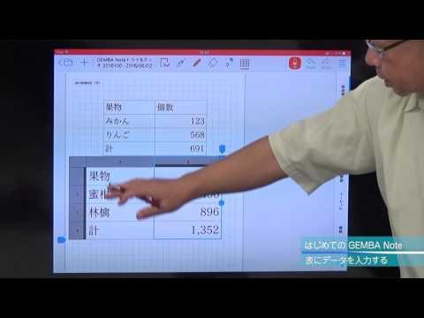 動画でGEMBA Note第4回 表を作成する