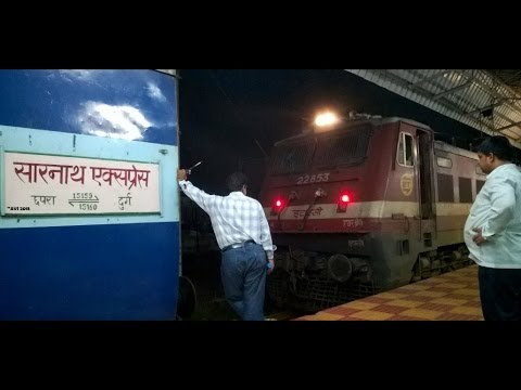 DURG to KOTA : Full Journey via KATNI Part 1 - Onboard SARNATH Express