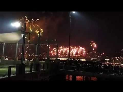 Macy's fireworks @ brooklyn bridge park 7-4-14
