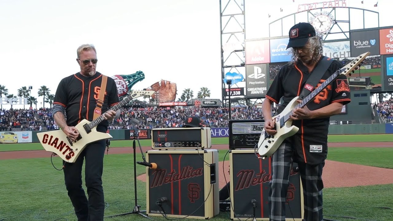Watch Metallica Play The Star Spangled Banner At A San Francisco Giants Game Guitar World