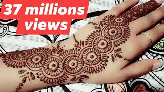 New trick Bottle Cap mehndi design