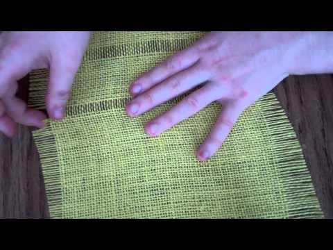 Burlap Weaving # 1: Pulling out Weft Strands