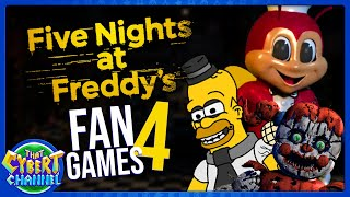 FNAF Fan Games 4: Jollibee's, Fun Times at Homer's, and More 🔴 That Cybert Channel