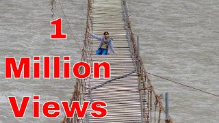 Hussaini Bridge Hunza, The World's Most Dangerous Bridge in Pakistan | Life Skills TV