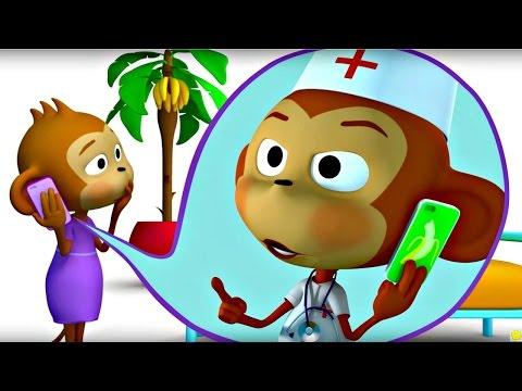 Мультфильм для детей. Учимся считать с мартышками.