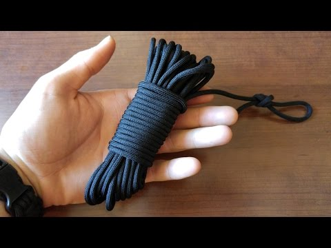 How To Make A Paracord Fast Rope - Best Ways To Bundle/Store Your Cord