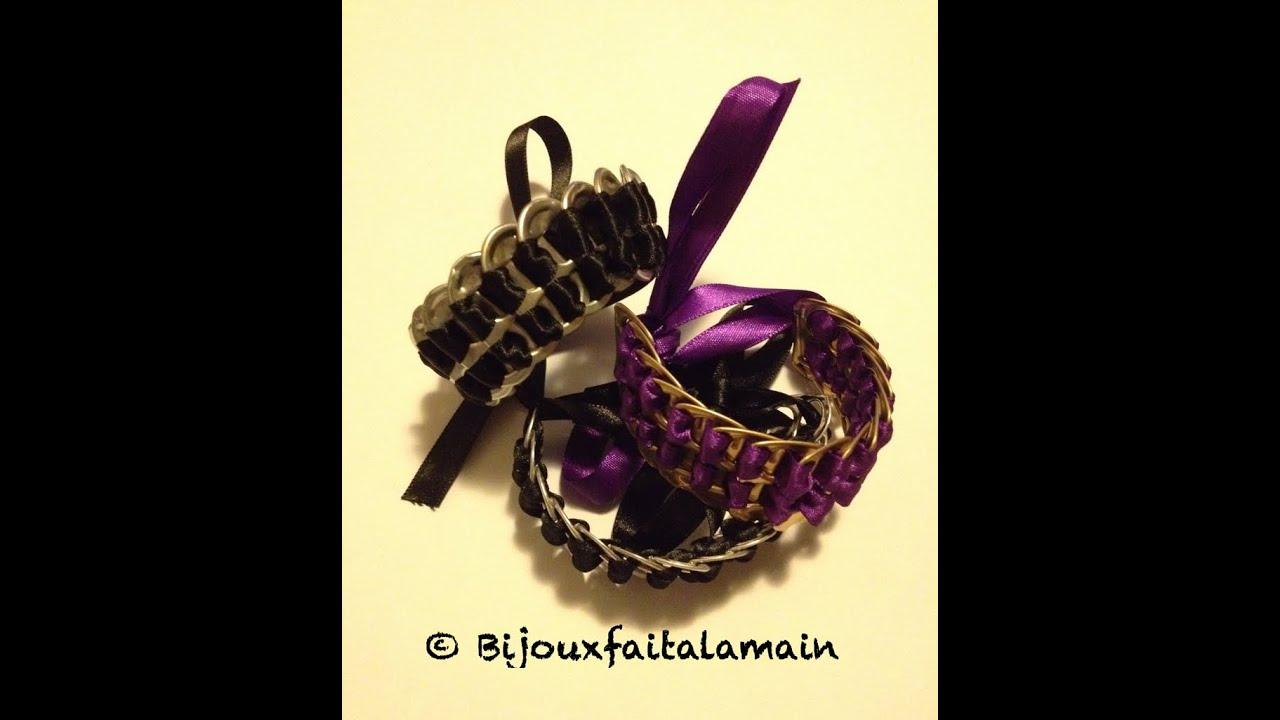 diy canettes comment faire un bracelet avec des attaches. Black Bedroom Furniture Sets. Home Design Ideas