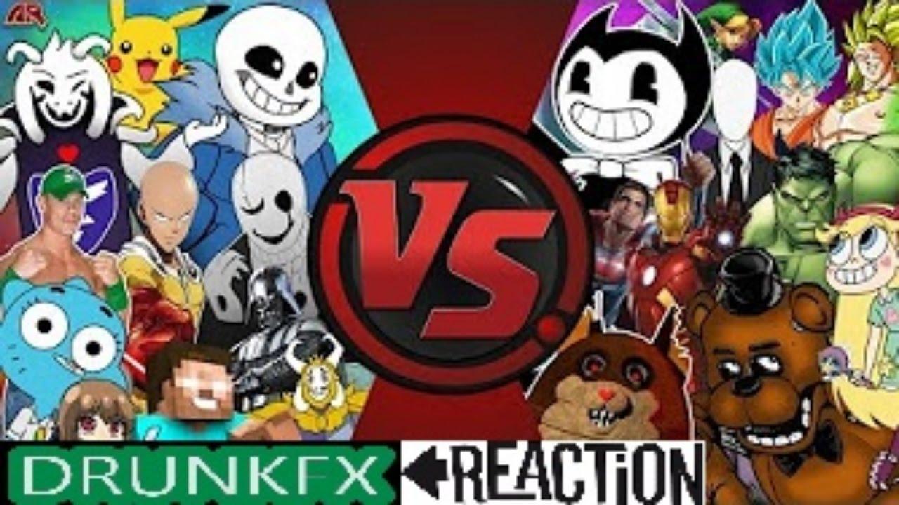 Undertale Vs Bendy Vs Fnaf Vs Anime Vs Cartoons Amp More