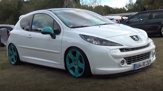 Peugeot 206 white turquoise wheels & mirrors | Nifty Hype 2016