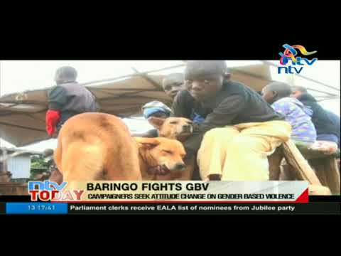 Baringo County campaigners seek attitude change on gender based violence