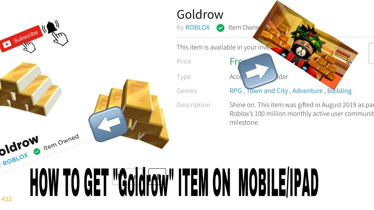 How To Get Goldrow On Roblox Limited Time On Mobile Ipad