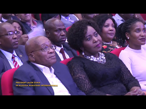 President Jacob Zuma with Pastor Alph Lukau at Alleluia Ministries International