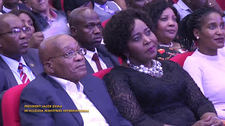 President Jacob Zuma with Pastor Alph Lukau at Alleluia Ministries International thumbnail