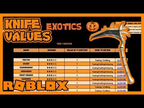 Roblox Assassin Value List 2018 Halloween Old Youtube