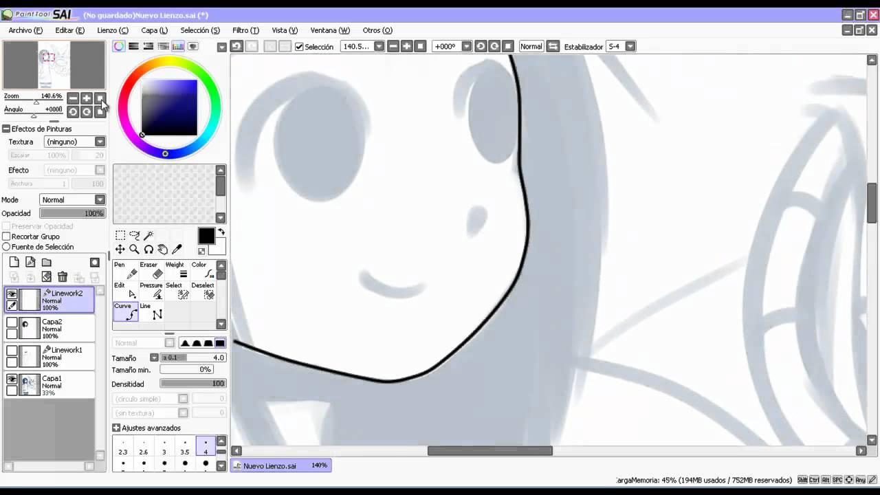 Line Art Sai : Paint tool sai tutorial en español lineart youtube