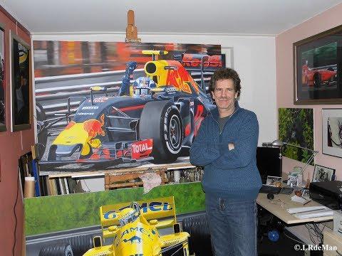 "Willem Lubach geïnterviewd over schilderij van Max Verstappen ""The First"""