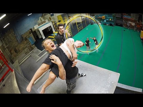 Throwing Rocco - Human Trick Shots!