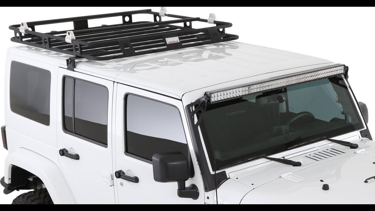 The best Jeep JK Roof rack , Smittybilt Defender - YouTube