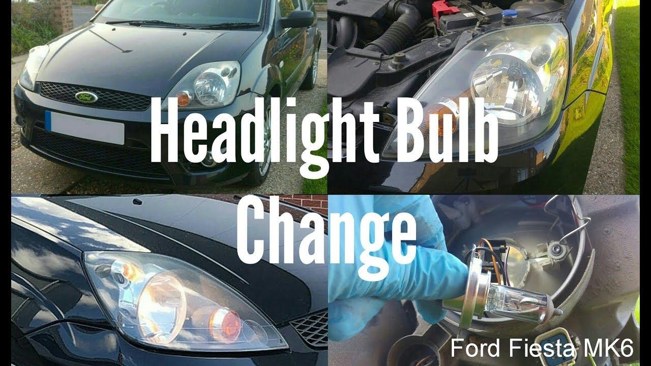 Headlight Bulb Change Ford Fiesta Mk6 Youtube