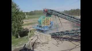 Дробильно-сортировочный комплекс. Гранитный кубовидный щебень на выходе.(Обуховская промышленная компания производит и предлагает универсальную дробилку ударного типа ДИМ 800К..., 2015-09-23T06:32:10.000Z)