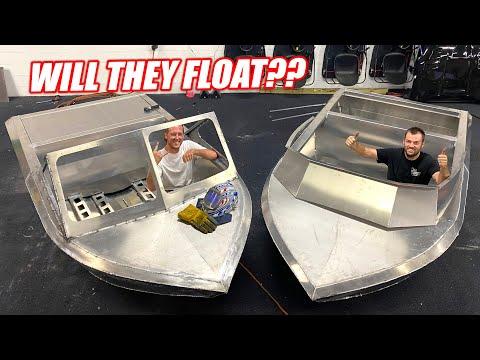 Expert Welders/Florida Men Complete Hand Built Mini Jet Boats!!! Think They'll Work??