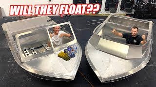 Expert Welders/Florida Men Complete Hand Built Mini Jet Boats!!! Think They'll Work??