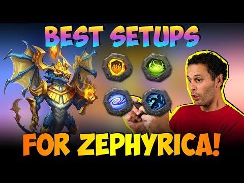 Zephyrica Testing  Favorite Set Ups Castle Clash