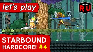 Deadly Glitch Fortress & Floran Artifact Clues   Let's play Starbound 1.0 Hardcore ep 4