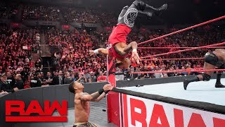 Ricochet helps Finn Bálor fight off Bobby Lashley and Lio Rush: Raw, Feb. 18, 2019