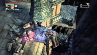 Bloodborne - Djura Jumps to His Death