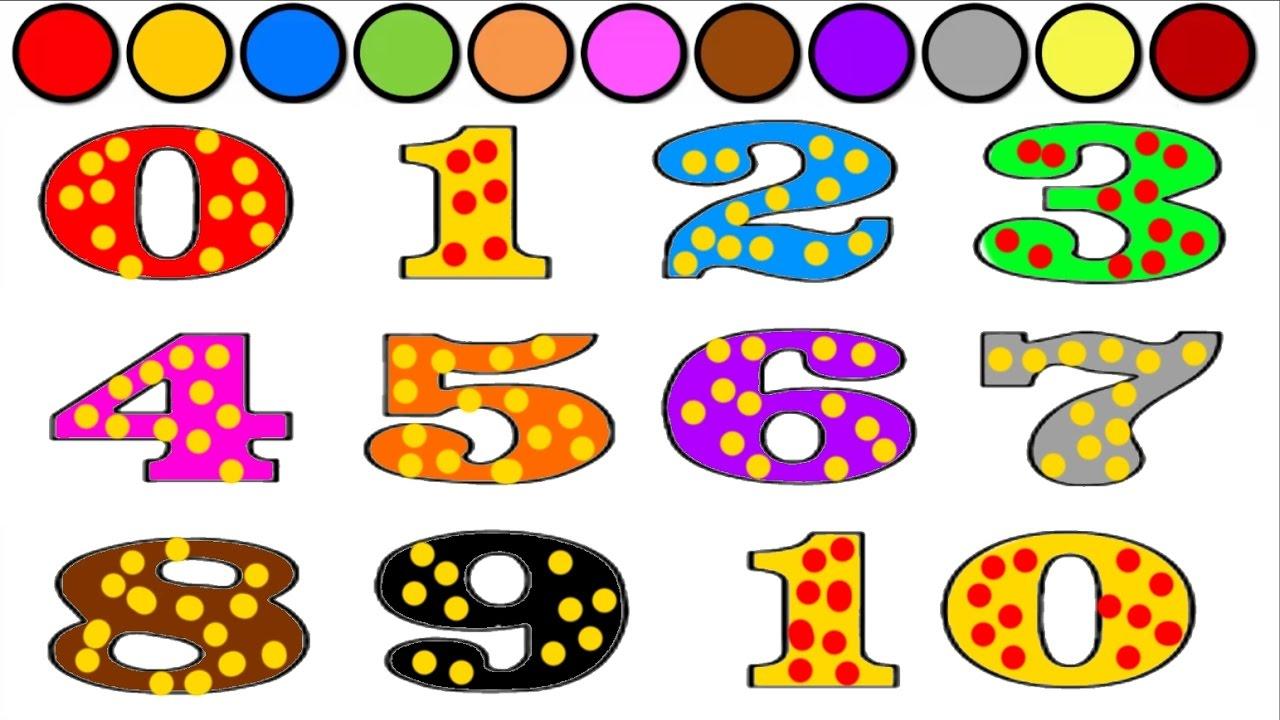 Rakamları Ve Renkleri öğreniyorum L çocuklar Için Eğlenceli Ve